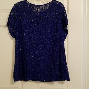 Lace top with sequins